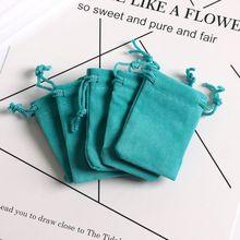 100 шт. 5*7 см мини-синие бархатные подарочные сумочки, ювелирные изделия, подарок на день Святого Валентина, мягкие бархатные упаковочные мешо...