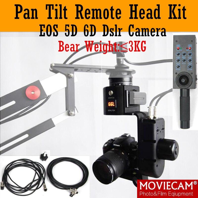 INLPIE двухосевая моторизованная наклонная головка, регулируемая скорость, дистанционное управление, нагрузка 3 кг для штативов и штатива GH5 BMPCC4K DSLR Camera, Jib Crane