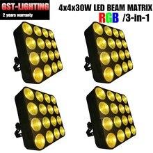 4 pcs/lot 16X30 W COB LED éclairage de scène 16 têtes pour DJ professionnel DMX éclairage de scène