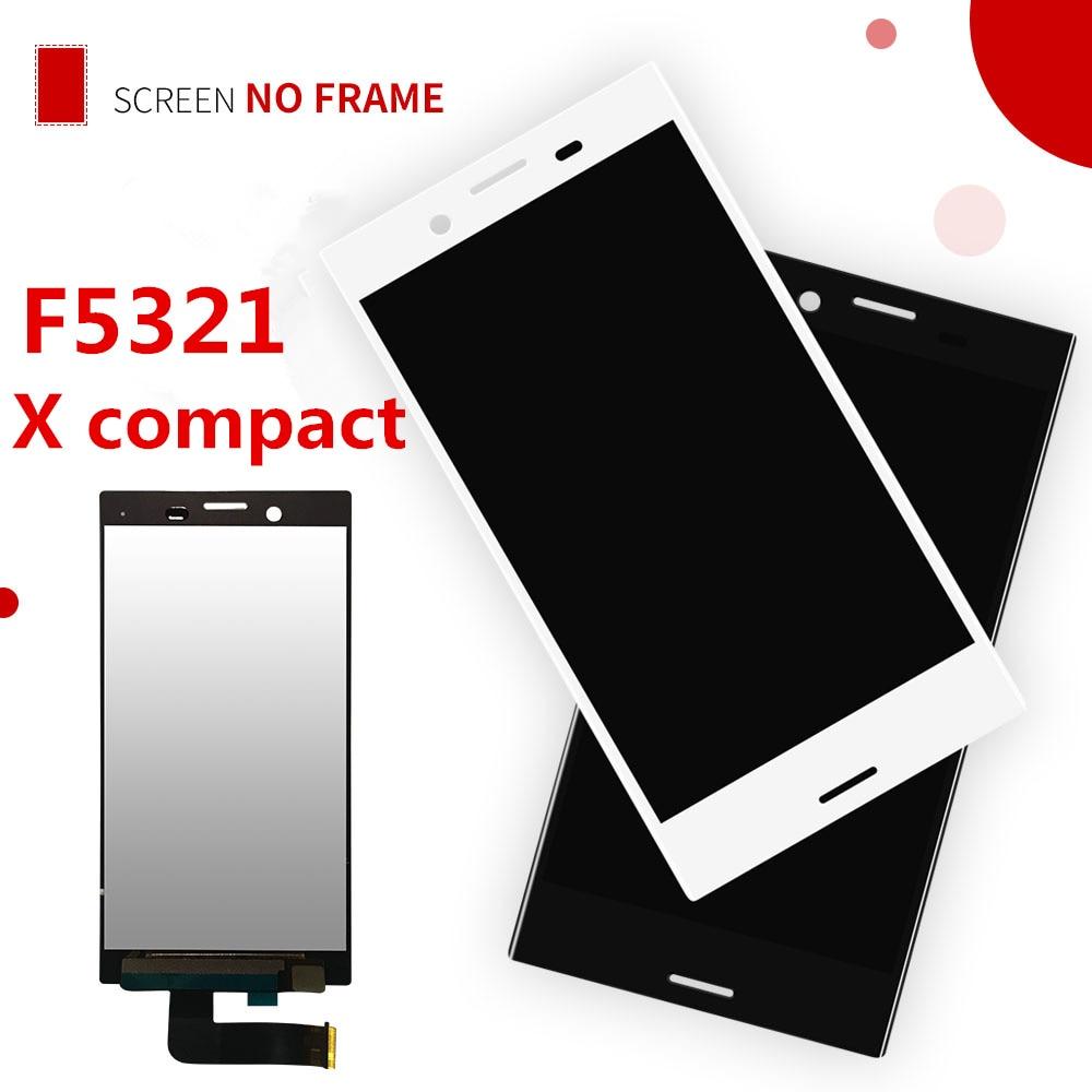 Pantalla LCD original para Sony Xperia X Compact F5321 pantalla táctil panel sensor digitalizador de 4,6 pulgadas montaje para SONY X MINI marco