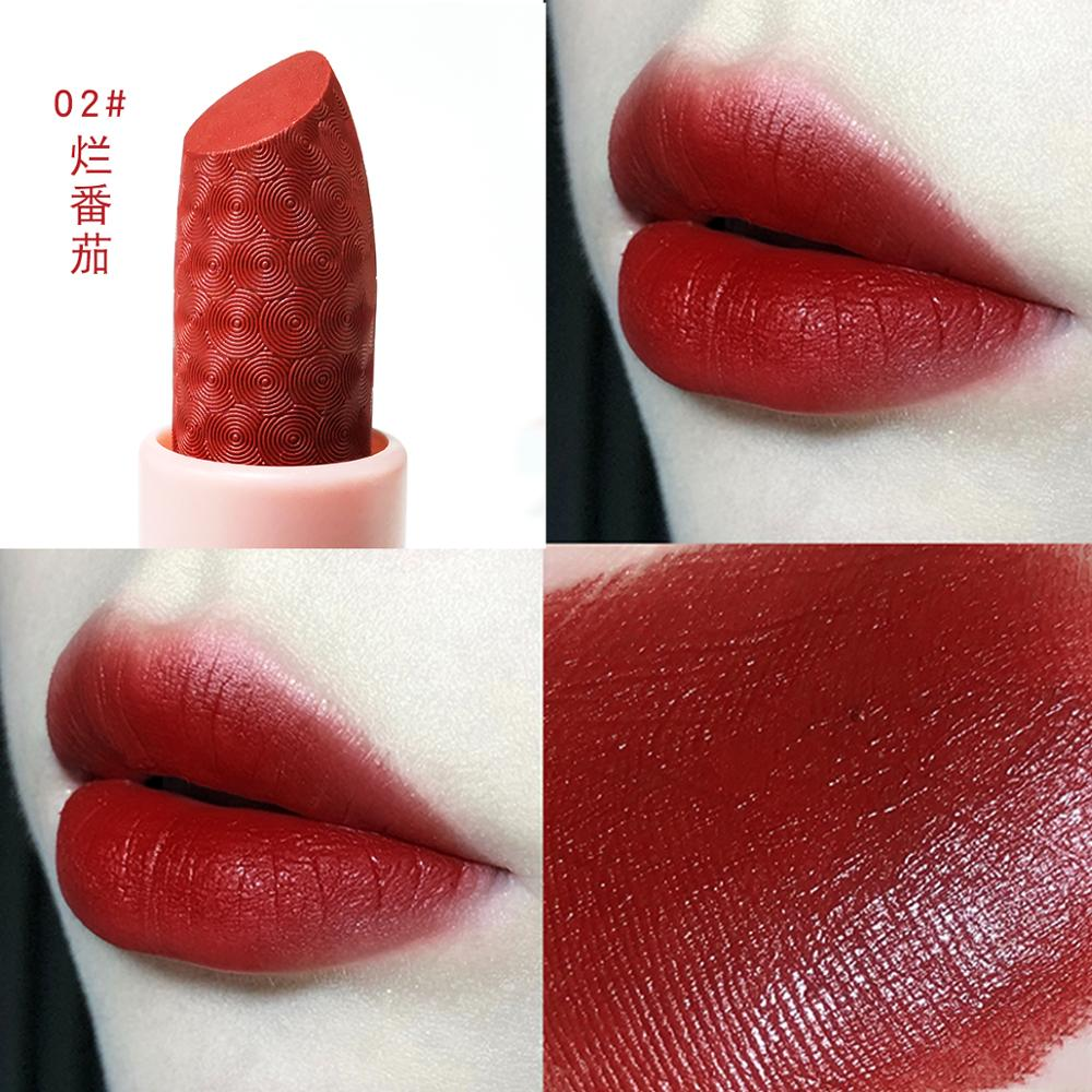 MARC BUSE matte lipstick set 3pcs warm color nude orange red soft pigment cream waterproof long lasting matte lipstick MA037
