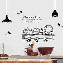 Chaud et romantique noir et blanc lustre cuisine Stickers muraux Restaurant cuisine canapé fond décoration Stickers muraux