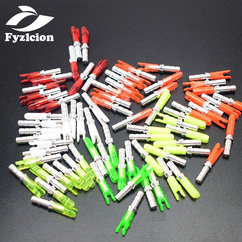 20 piezas id6,2 mm, pin interno, culatín de flecha, arco compuesto para caza y disparo, alfileres de aluminio + reverso de plástico, Flecha de carbono de aluminio