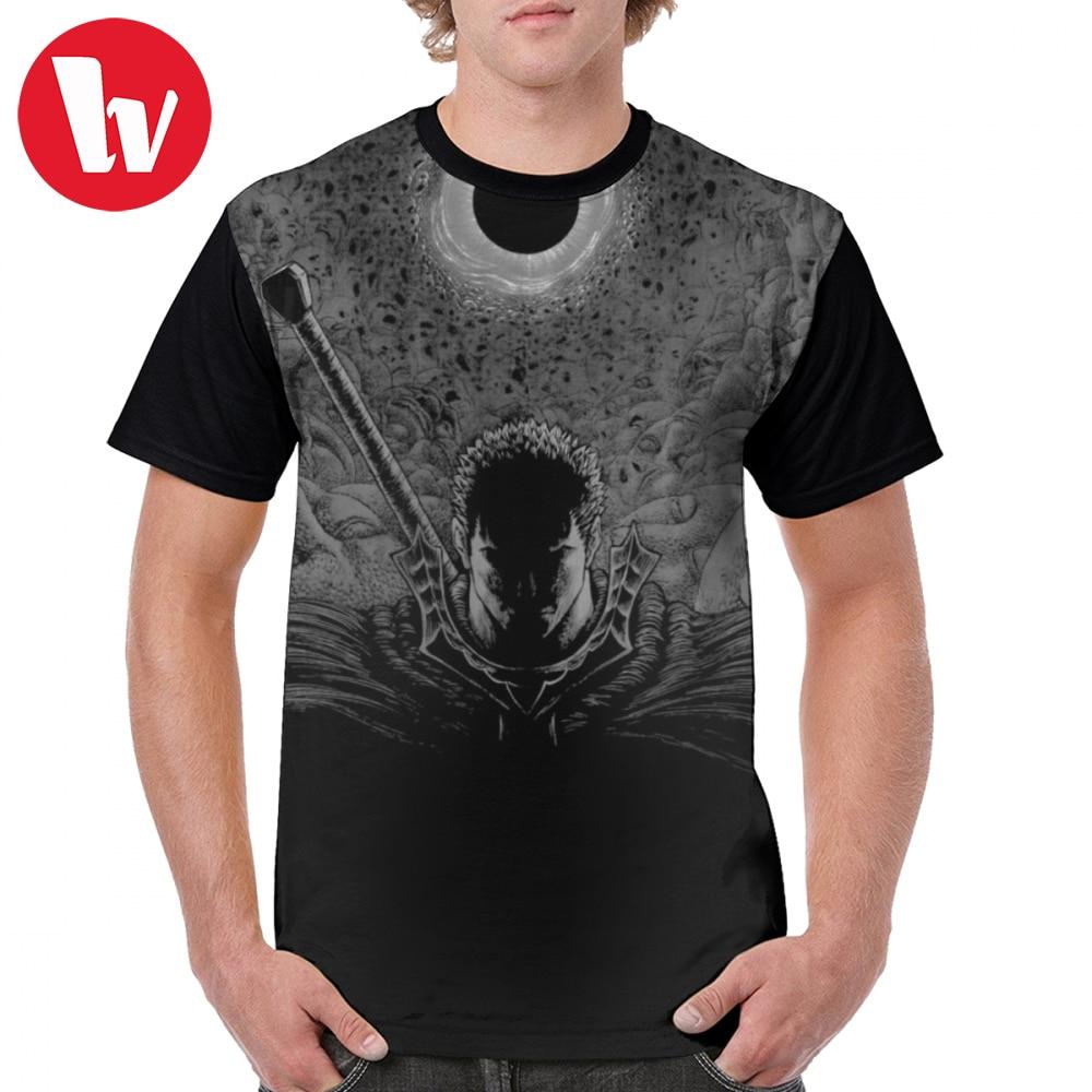 Warriors T Shirt Berserk T-Shirt Man Plus size Graphic Tee Shirt Short Sleeve Printed Polyester Cute Basic Tshirt