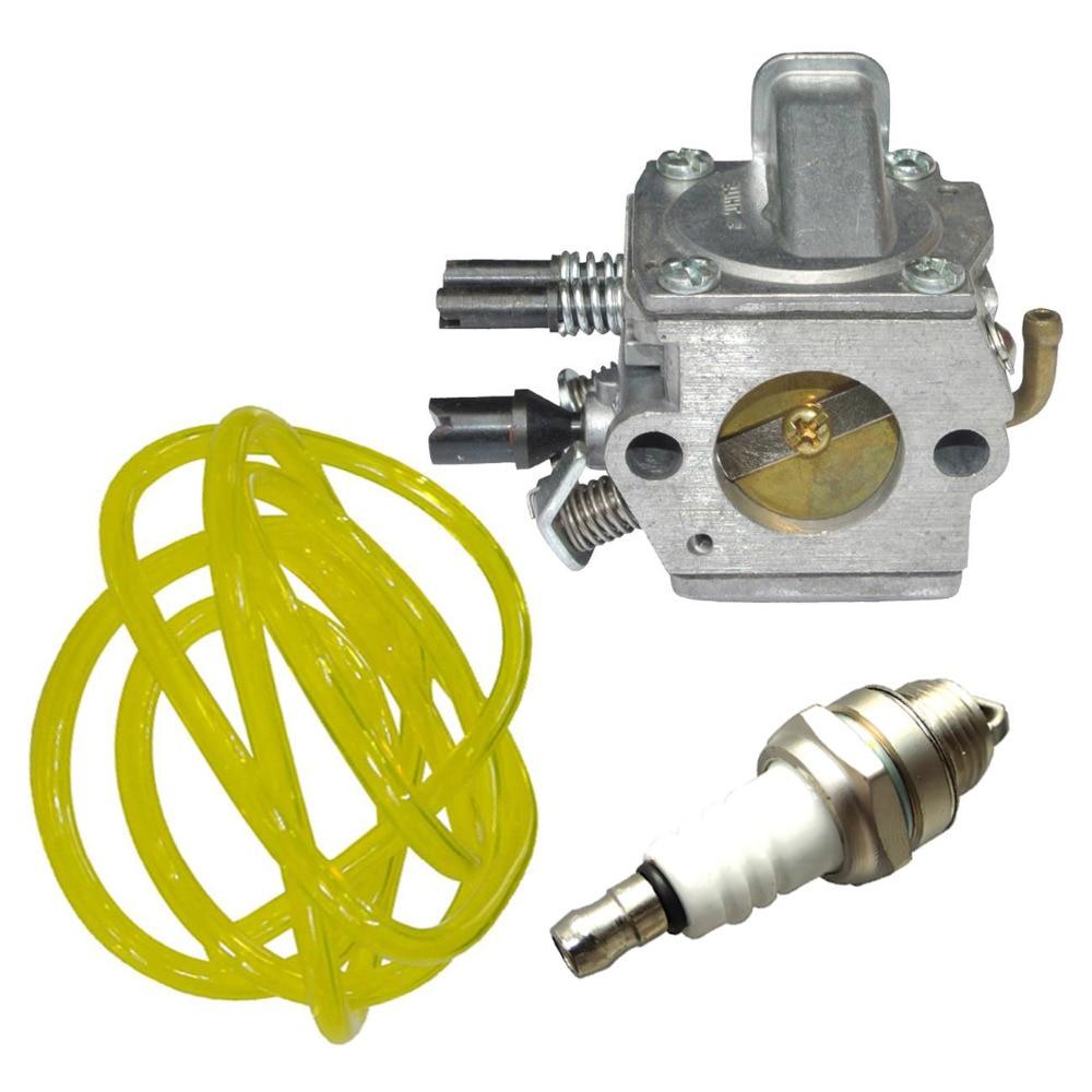 Carb Carburetor Fit STIHL MS340 MS350 MS360 034 036 With Fuel Line & Spark Plug