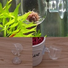 1 st Glazen Pot Plant Zaagsnede Bekerhouder Garnalen Aquarium Fish Tank Aquatic Feeder Nieuwe G03 Drop schip