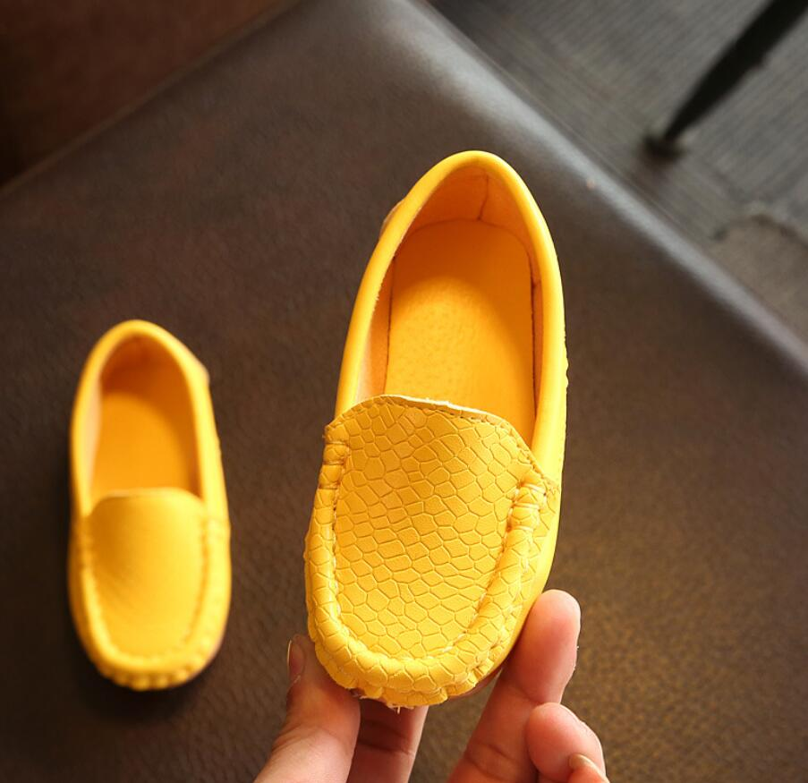 Children Shoes Moccasins 2020 New Female Male Child Leather Child Single Shoes Baby Brand Casual Sho