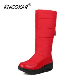 Зимние теплые водонепроницаемые ботинки с подкладкой на пуху, женские средние ботинки, утепленная шерстяная Студенческая хлопковая обувь на толстой подошве x1075