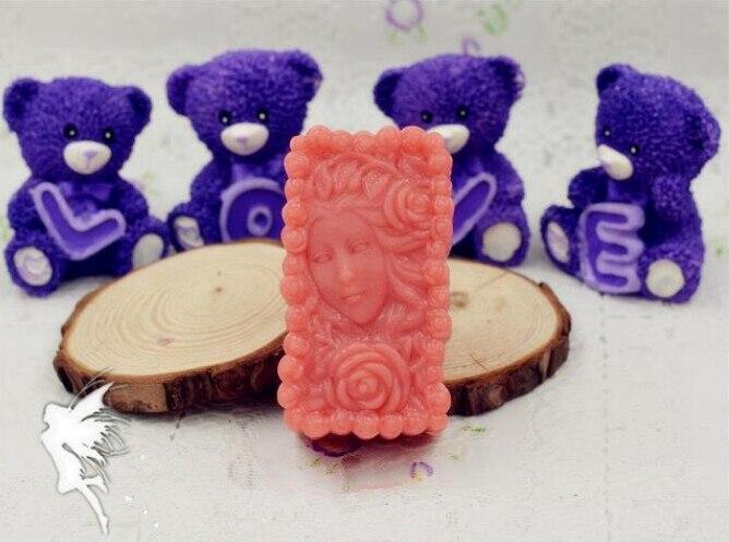 Mujer de silicona para jabón molde flor molde para Fondant para decorar tartas jabón de rosas hecho a mano molde SO391 moldes de piedra con aromas apartamenty PRZY