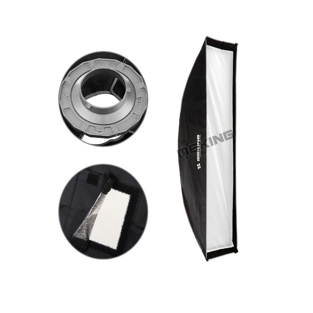 """Meking macio caixa 30cm x 120cm 12 """"x 48"""" strobe mono luz softbox com anel de velocidade bowens montagem fotográfico photo studio acessórios"""
