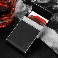 Fad Men's Cigarette Box Stainless Steel Metal Card Box And Cigarette Pack Portable Business Cigarette Box