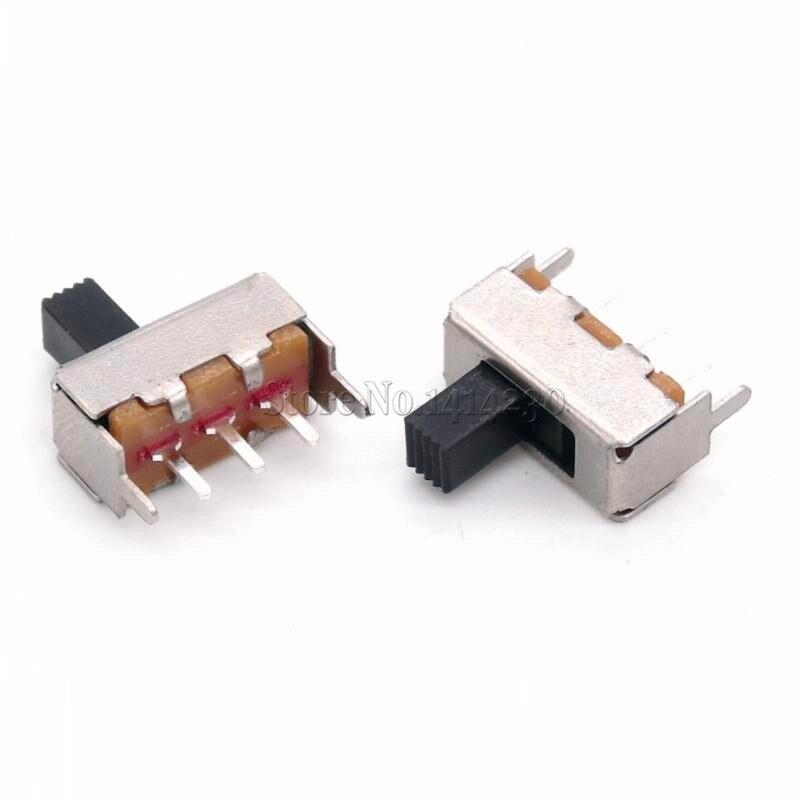 10 Uds nuevo interruptor Micro deslizante de SS-12F44G5 SS12F44G5 interruptor de palanca con soporte 3 pies 2 mango de archivo alto 5MM