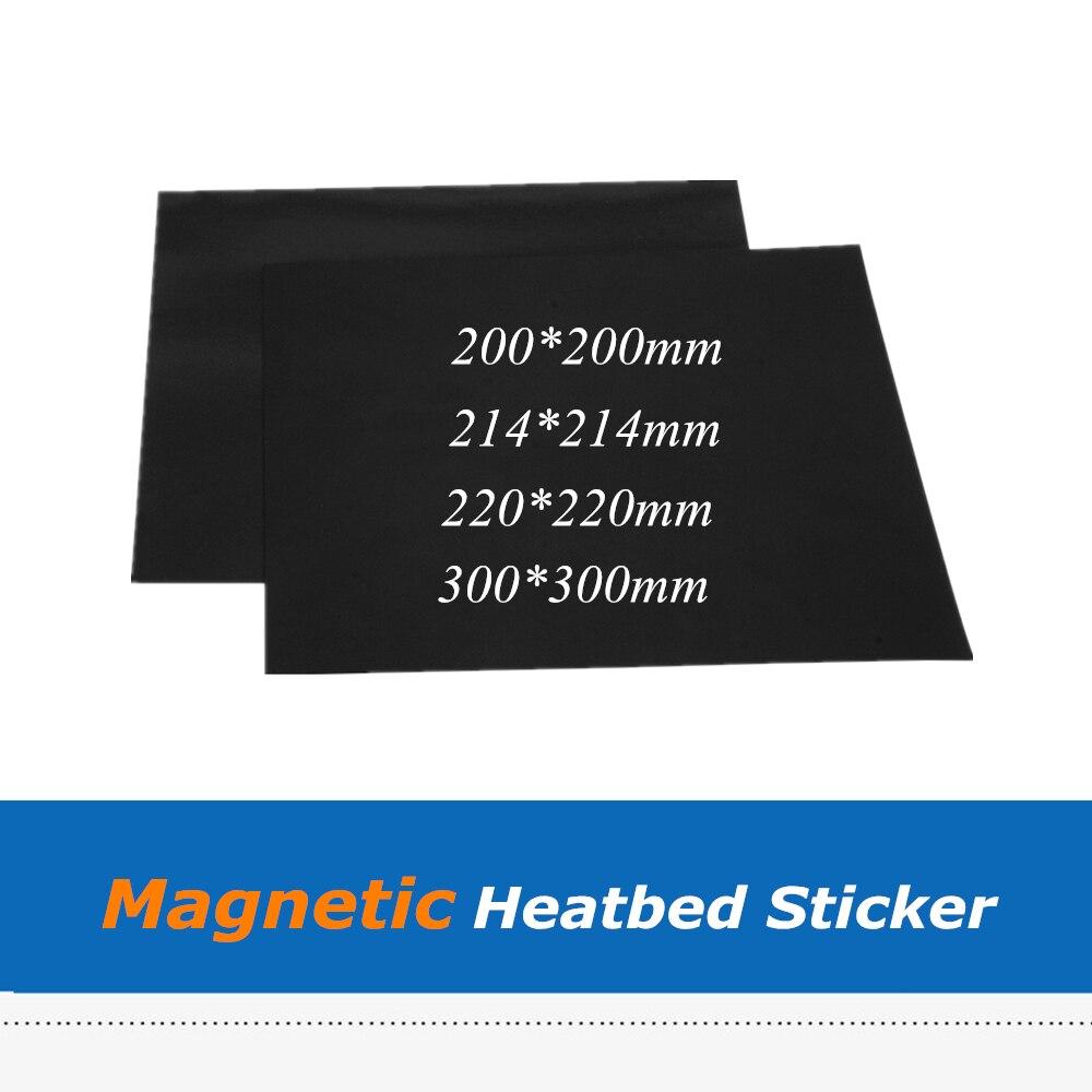 Piezas de impresora 3D, placa de construcción flexible, impresión magnética, cinta adhesiva de cama térmica para impresora 3D Wanhao i3 Anet A8 Creality ENDER-3