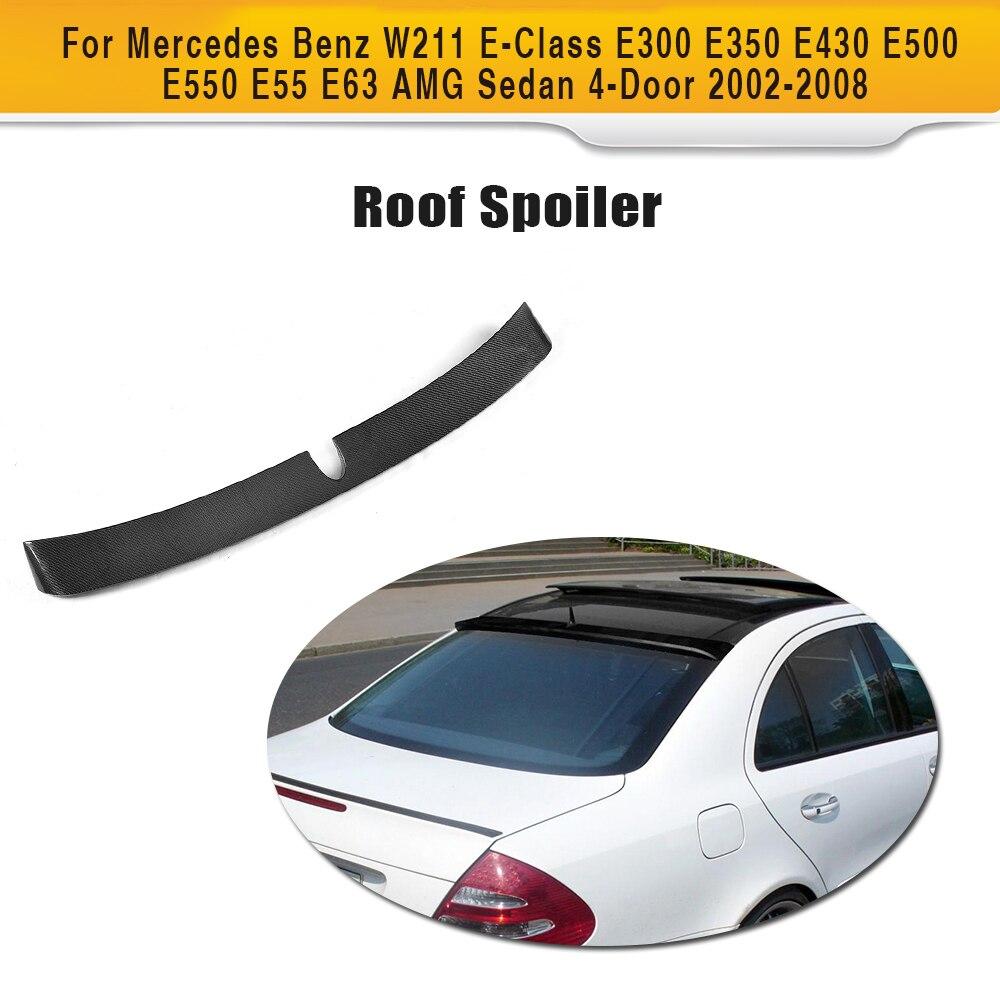 Alerón de techo de fibra de carbono para Mercedes Benz W211 E clase E300 E430 E500 E55 E63 AMG Sedan 2002-2008