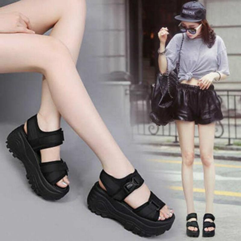 Baixo macio de pouco peso 2019 sandálias inferiores grossas femininas xiapo com sapatos de plataforma