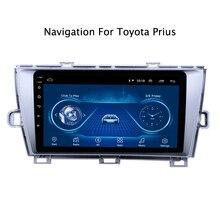 Écran tactile ultra mince Android 9.1 radio GPS Navigation pour Toyota Prius LHD 2009 headunit tablettes stéréo multimédia Bluetooth