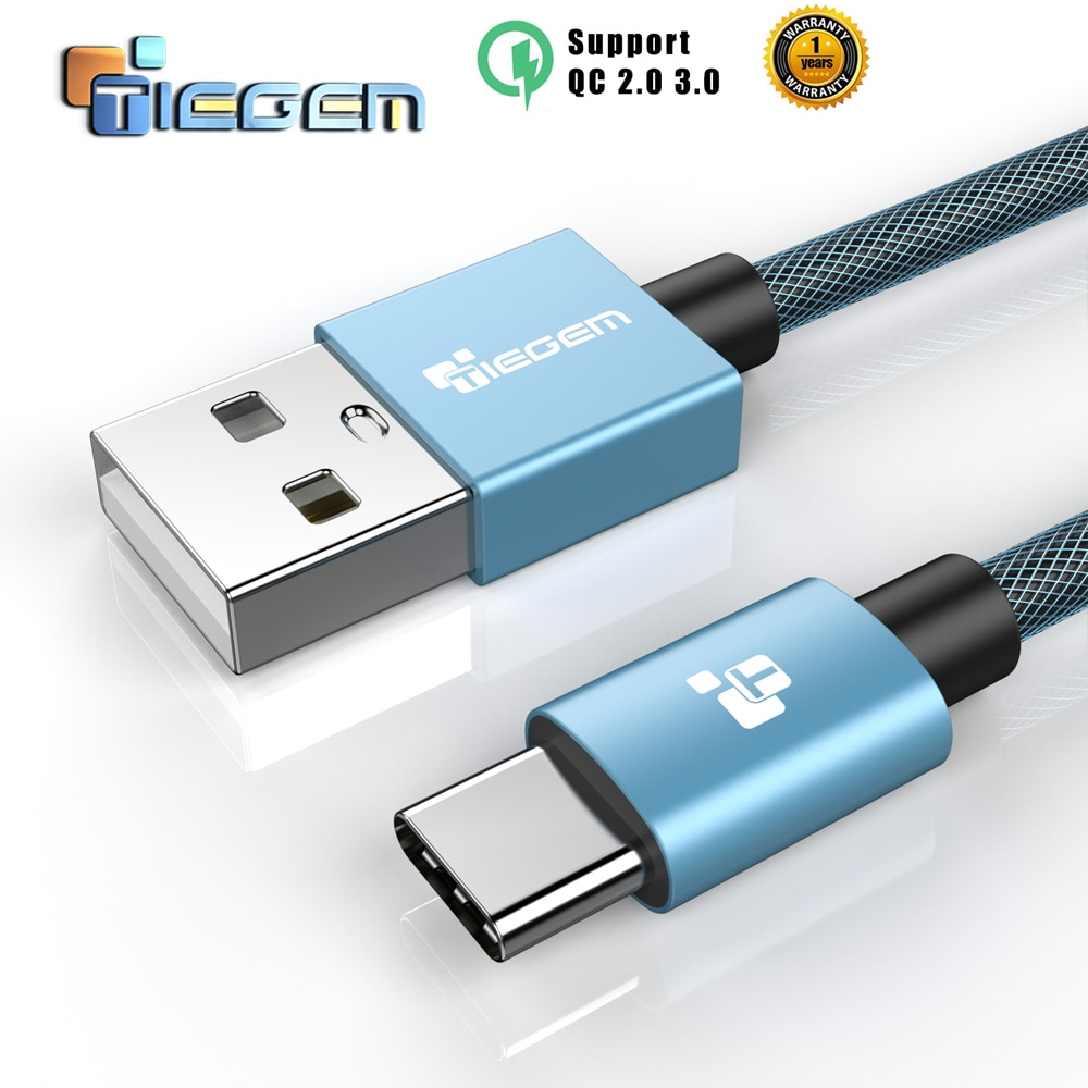 USB Type C Cable,TIEGEM USB C Type-C 2A Fast Charger Cable for LG G5 Mate9 Mi5 OnePlus 2 Nexus 5X 6P Mobile Phone Cable 1m 2m 3m
