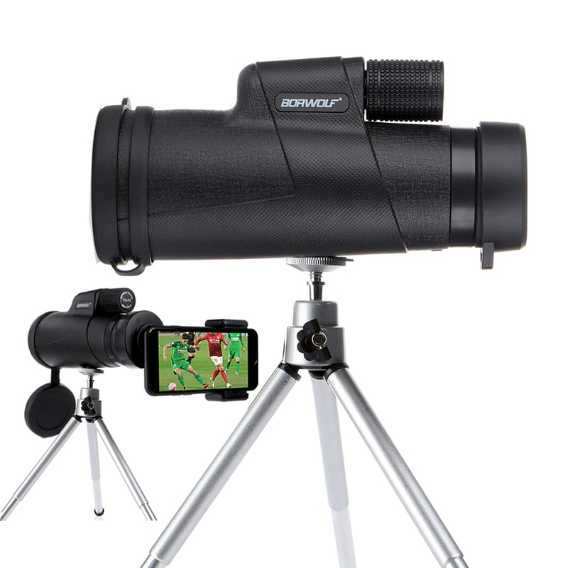 Borwolf Monoculars 10x42 Powerful Binoculars Zoom Field Glasses Great Handheld Telescope with Phone