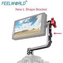 Feelworld nouveau support en forme de L en aluminium pour F570 F6 F5 FW450 petit moniteur de champ de caméra sur la plate-forme de grue de cardan stabilisateur DSLR