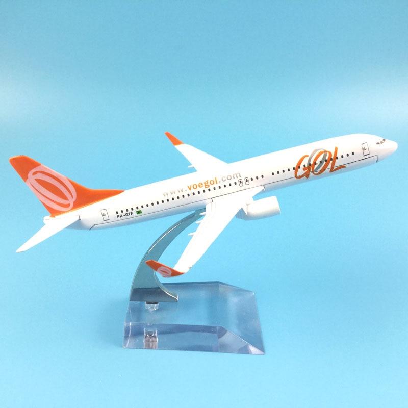 JASON TUTU16cm avión modelo de avión Brasil Air GOL Boeing 737 avión modelo Metal fundido 1 400 aviones modelo de avión Avión de juguete