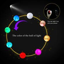 Crestgolf 6 개/갑/팩 깜박이 골프 공 야간 발광 플래시 라이트 글로우 LED 골프 공-당신의 선택에 대 한 6 색