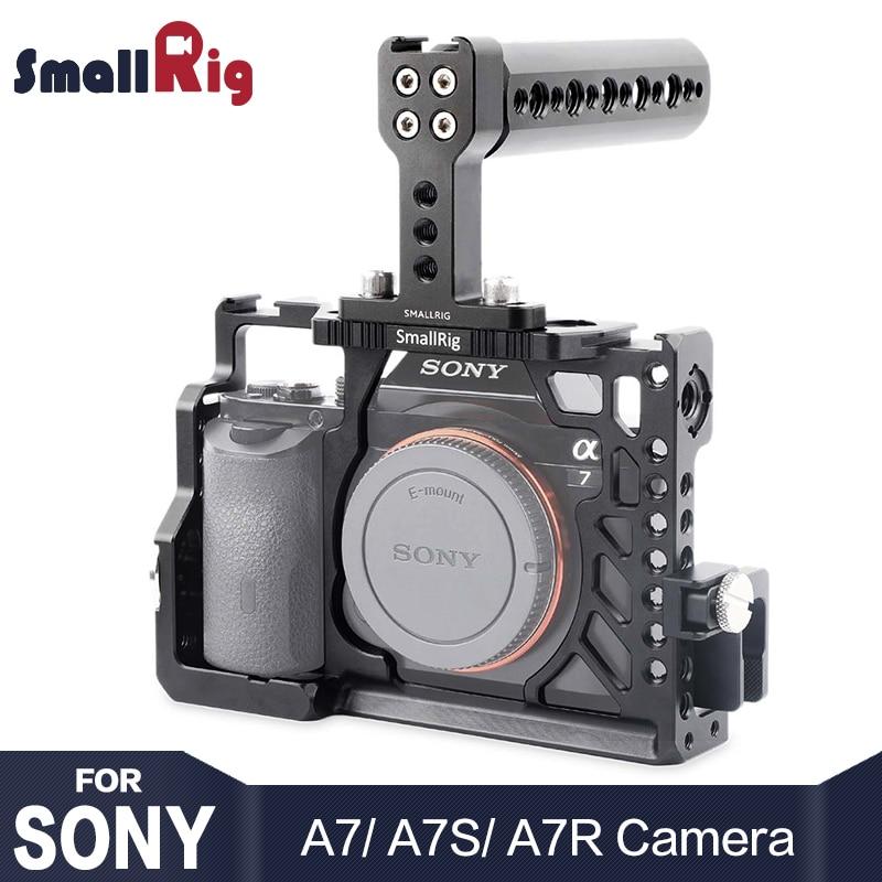 SmallRig камера клетка комплект для sony A7 /A7R /A7S ручной Rig с верхней ручкой HDMI кабель зажим Arri розетка крепление