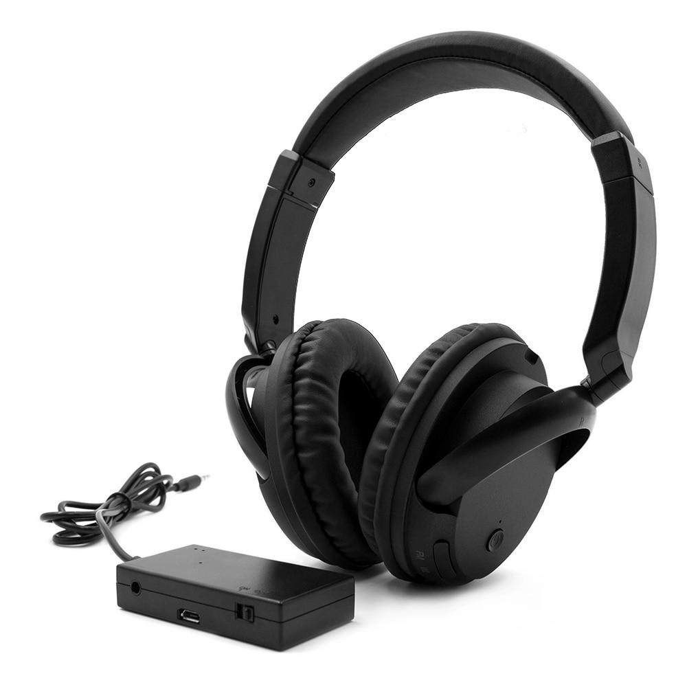 FM inalámbrico auriculares de oído música auriculares AUX transmisor de 3,5mm de auriculares con cable w/ Mic Radio FM para PC TV teléfonos MP3 jugador