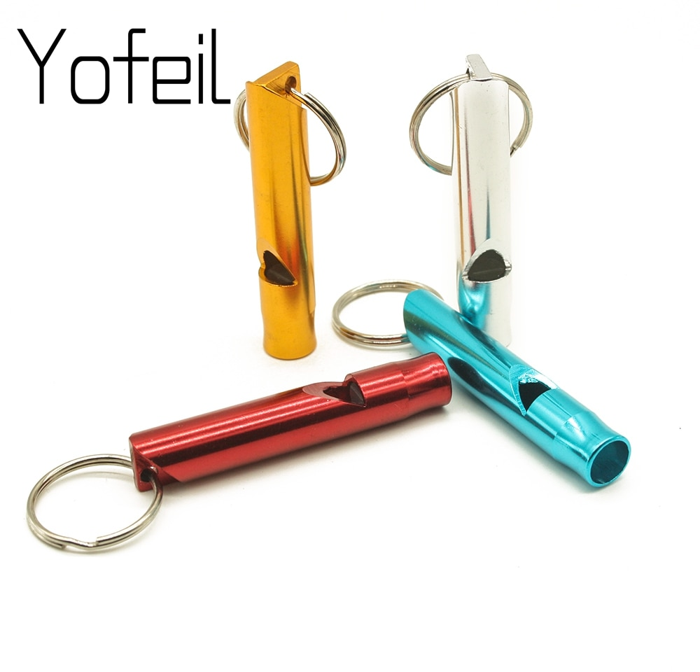 Outdoor Metal Multifunction Whistle Pendant With Keychain Keyring For Outdoor Survival Emergency Mini Size whistles Team Gift