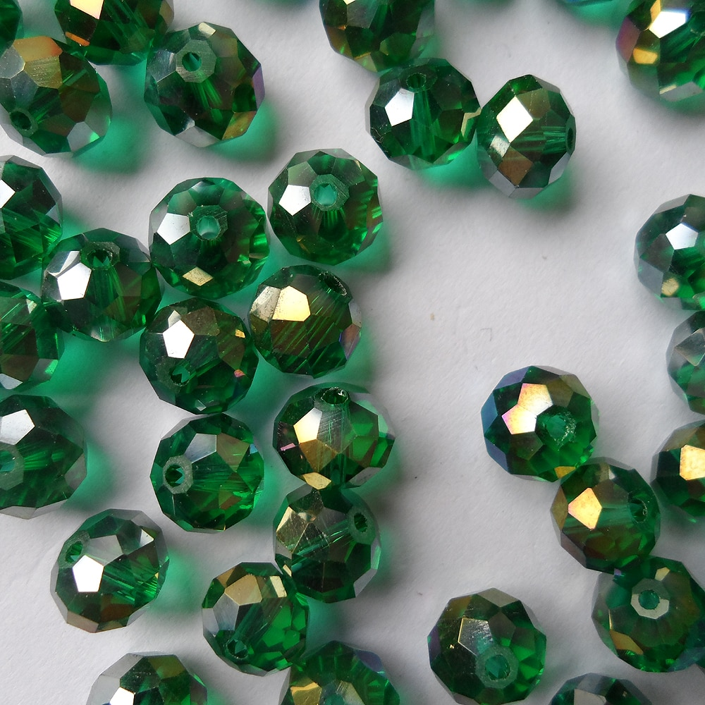 Jewelry factory wholesale 10MM Malachite green crystal Flat beads Plated AB color,good quality Flat Malachite green 10MM crystal ab 1769 l32e factory sealed