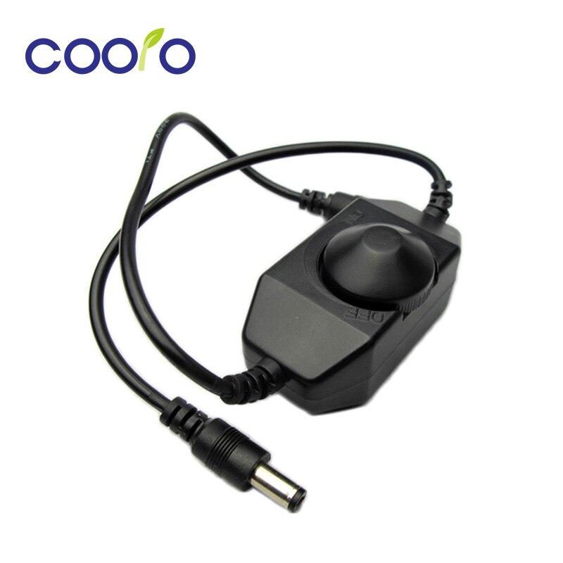 Regulador de intensidad de interruptor de ajuste de brillo Mini LED para 3528 5050 5630 cinta de LED de único color luz LED atenuador 12 V, 24V