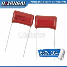 10 pièces 630V104J Hauteur 15mm 0.1UF 100nf 630V 104 CBB condensateur à film De Polypropylène hjxrhgal
