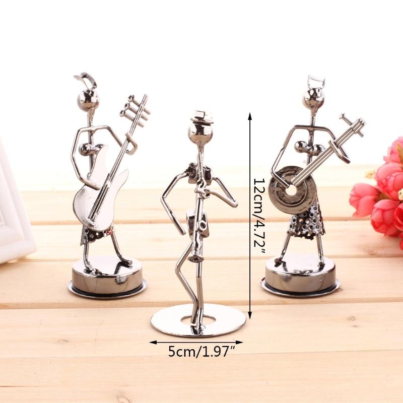 1 PCS Mini Iron Music Band Model Miniature Musicians Figurines Arts Craft Decorations Random art collection appreciation