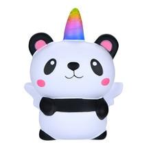 Squishies spongieuses géantes Kawaii dessin animé Panda ange Poopsie Slime Surprise lente augmentation crème parfumée soulagement du Stress jouet 6.5