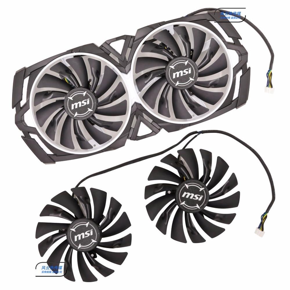 Новый оригинальный вентилятор Охлаждения видеокарты MSI GTX1080Ti/1080/1070Ti/1070/1060 ARMOR PLD10010S12HH 12V 0.40A 95 мм диаметр