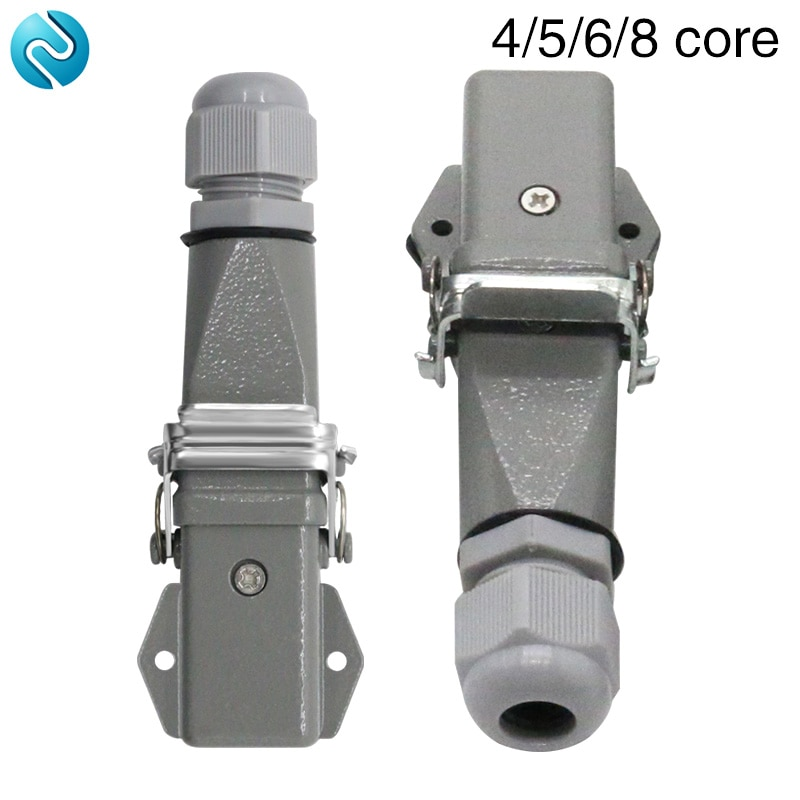 Heavy duty connector 4 core (3+1)5 core (4 +1)6 core (5+1)8 core (7+1)-3 gas plug 250V Horizontal aviation plug.