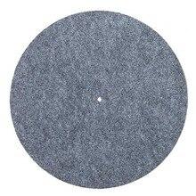 Tapis de plateau tournant en feutre tapis de glissement LP Audiophile 3mm dépaisseur pour disque vinyle LP de couleur grise