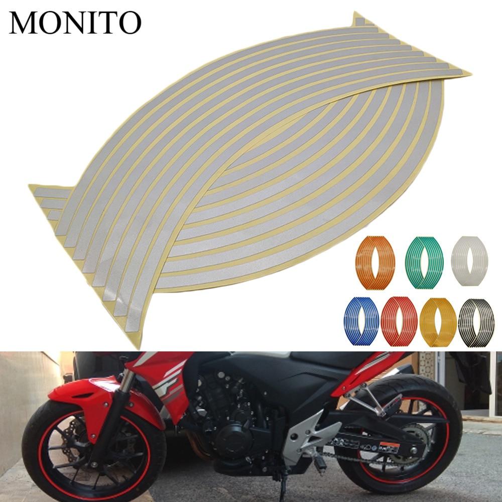 Наклейки на колеса мотоцикла светоотражающие наклейки мотокросс лента обод для