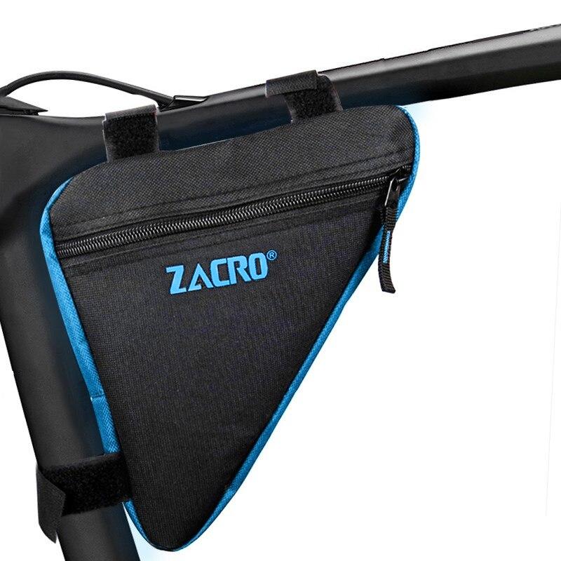 Zacro, bolsa de bicicleta, bicicleta frontal, marco de tubo, teléfono impermeable, bolsas de bicicleta, bolsa triangular, soporte de marco, accesorios para bicicleta