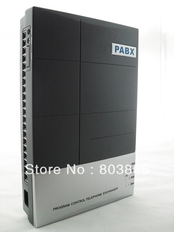 China pbx maufacturer suministro VinTelecom CS416 teléfono de oficina PBX/PABX interruptor 4 líneas + 16 salida Ext. Sistema de teléfono para oficina