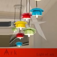 new Simple modern colorful milk Tea cup led Pendant lights restaurant passage bedroom kitchen light ceramic lamp lighting
