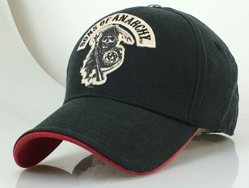 Gorra de béisbol SAMCRO SOA Sons of Anarchy cráneo bordado sombrero casual gorra de moda de alta calidad de carreras de motocicleta de deporte