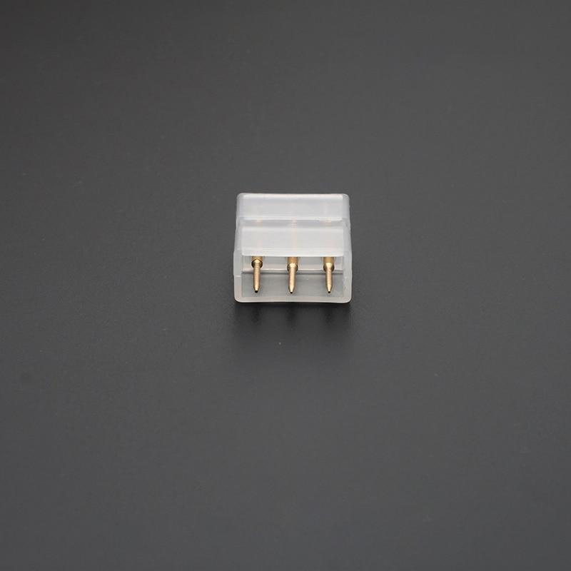 100 قطع LED2835/5730 3 دبابيس وسيط مشترك باهتة ضوء ثنائية اللون أسلاك مع بعقب دبوس موصل