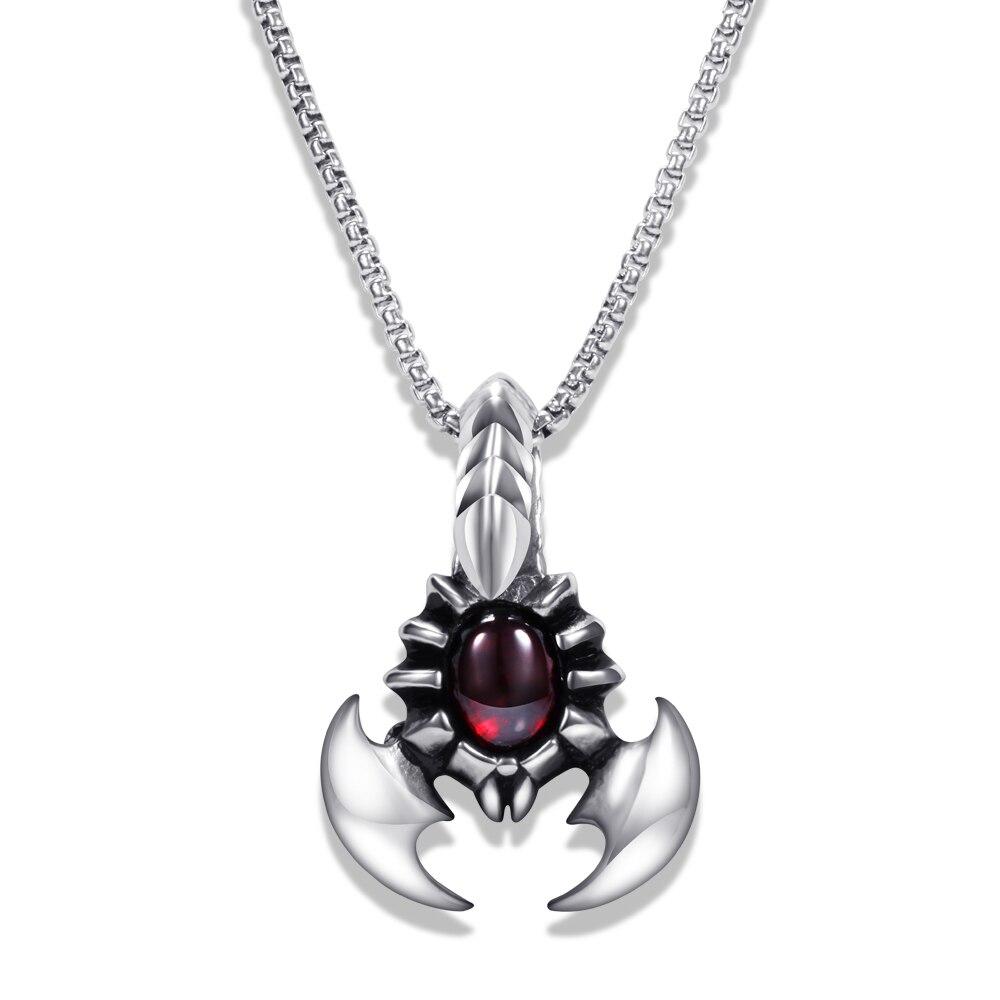 Красно-кастомизированное ожерелье с подвеской в виде Королевского пирата, из титановой стали