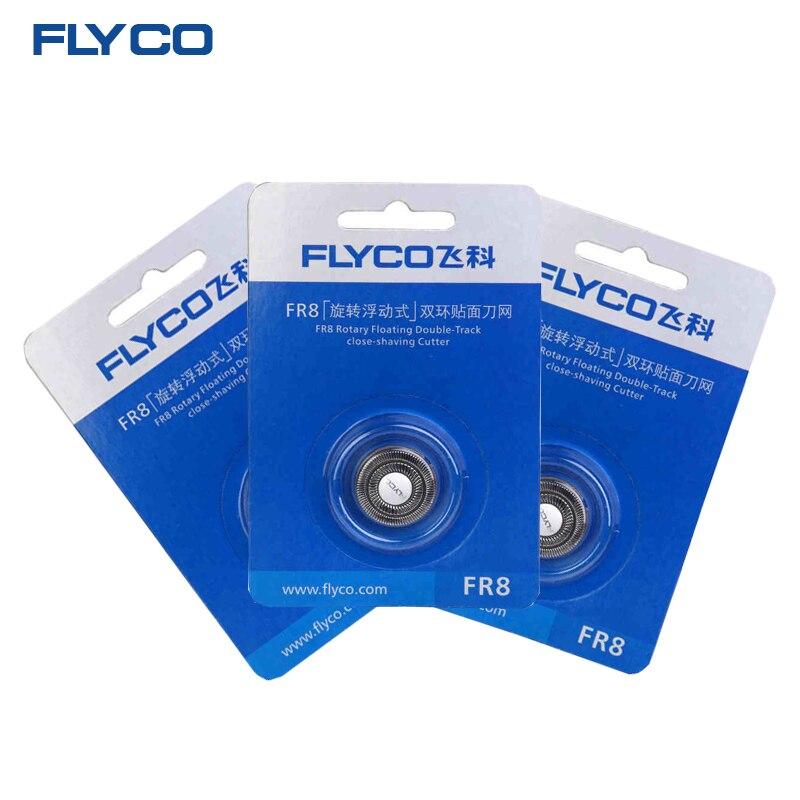 Afeitadora eléctrica FLYCO, cuchilla de repuesto original Superior, cabezal de cuchilla de afeitar para hombres, 3 uds, FR8, apto para FS339 FS376 FS372 FS867