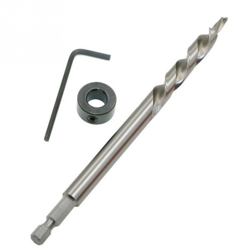 Haute qualité tige hexagonale 9.5mm vis perceuse à bois Oblique trou étape Guide de forage positionneur