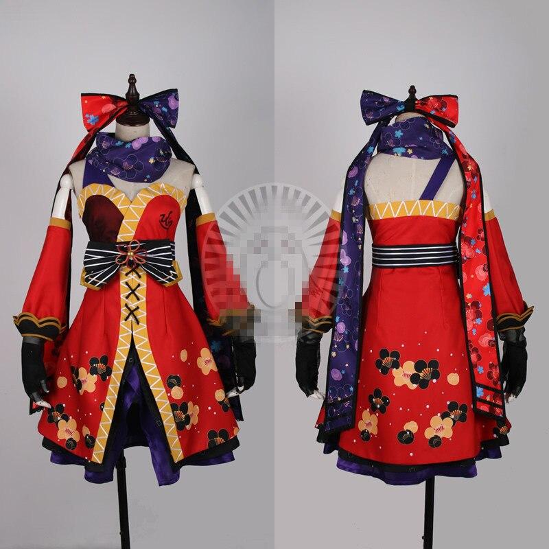 Caliente japonesa Anime amor vivo NINJA Kousaka Honoka traje Cosplay despertar vestido de mujer ropa de hombre
