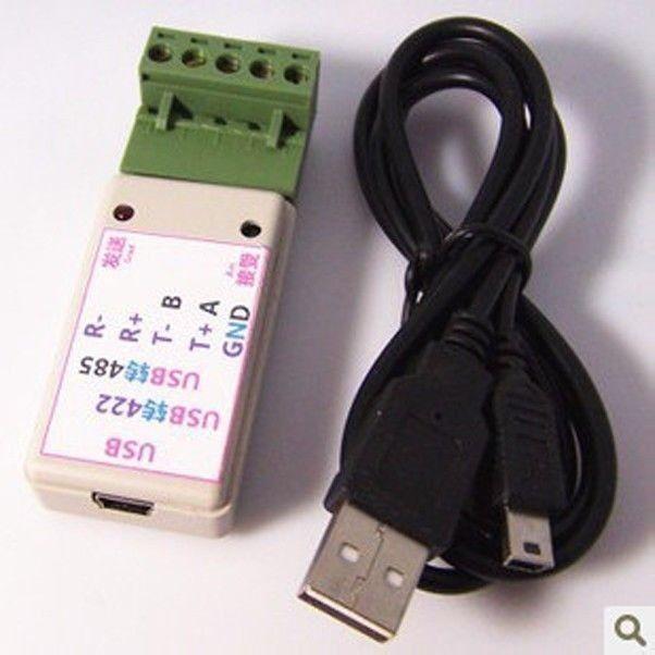 Adaptador convertidor Serie USB a 485 / 422 RS422 / RS485 Chip ch340T con indicador LED con protección contra sobretensiones TVS nuevo