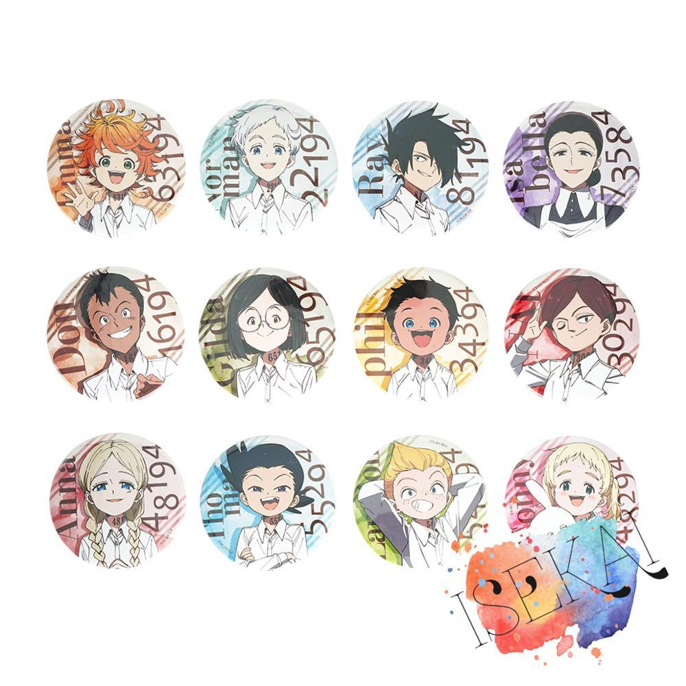 A Prometida Neverland Anime Emblema Do Metal Conny Emma Norman Ray Anna Phil Gilda Lannion Nat Don Thoma Kawaii Bonito Pinos Do Emblema