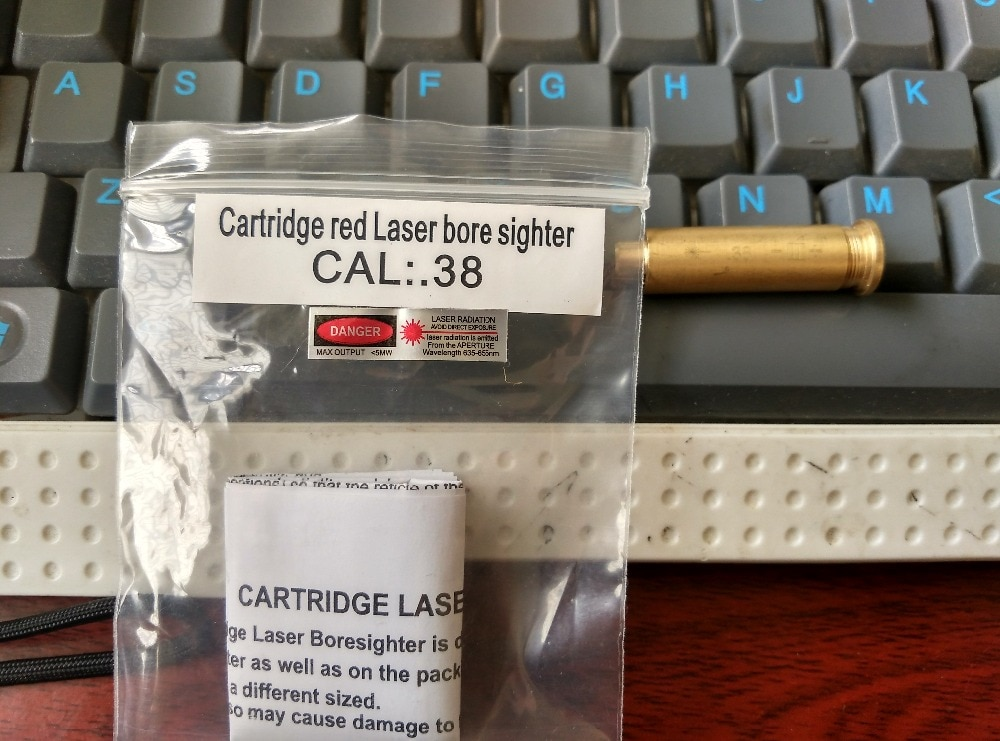 Calibre de mira de calibre láser rojo. 38 CAL 38 cartucho especial de calibre de caza de cobre