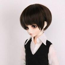 Allaosify 1/3 1/4 1/6 géant bébé bjd poupée super doux haute température soie perruque courte cassé frange juvénile mâle cheveux
